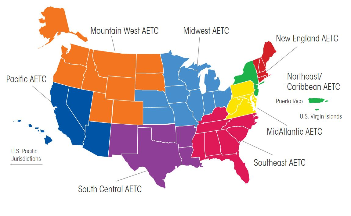 AETC regional map