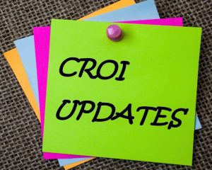 "Sticky Note that reads ""CROI Updates"""