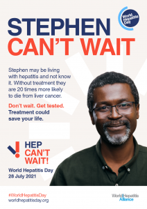 Hep Can't Wait Poster - Stephen Can't Wait