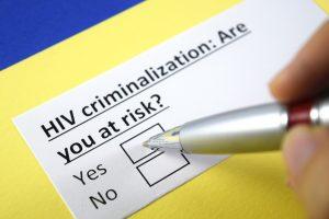 HIV criminalization: are you at risk? Checkbox 'Yes' Checkbox 'No'